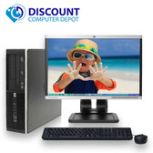 "HP 6005 Pro Desktop Computer PC Athlon 2.8GHz 4GB 500GB DVD 17"" LCD Windows 10 Dual out video"