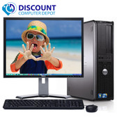 "Dell Optiplex 780 Windows 10 Pro Desktop Computer PC 3.0GHz 8GB 250GB w/19"" LCD"