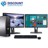 "Dell Optiplex 780 Windows 10 Pro Desktop Computer PC 3.0GHz 8GB 500GB Dual 19"" LCDs"