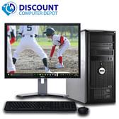 "Dell Desktop Computer Tower PC C2D 8GB 500GB w/19"" LCD Windows 10 Pro Wifi DVD"