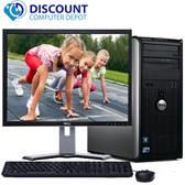 "Dell Optiplex 780 Windows 10 Tower Computer PC 3.0GHz 4GB 1TB w/17"" LCD Wifi"