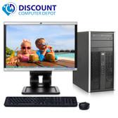 "HP 6005 Pro Desktop Computer Tower Windows 10 PC AMD 3.0GHz 4GB 160GB 17"" LCD"