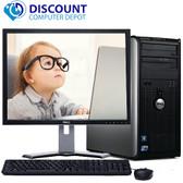"""Dell Optiplex 780 Windows 10 Pro Tower Computer PC 3.0GHz 8GB 250GB w/19"""" LCD and Dell Soundbar"""