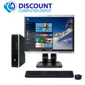 "HP 8300 Windows 10 Slim Desktop PC Quad i5-3470s 2.5GHz 8GB 250GB w/19""LCD"
