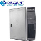 HP xw4600 Workstation Tower Computer Core 2 Quad 3.0 8GB 500GB Win10 Pro Dual Video Card