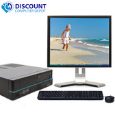 "Custom Windows 10 Desktop PC Computer Intel i3 3.1GHz 4GB 160GB Wifi 19"" LCD"