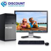"""Dell Optiplex 790 Desktop PC Quad i5 Windows 10 3.1GHz 4GB 320GB 22"""" LCD Wifi"""