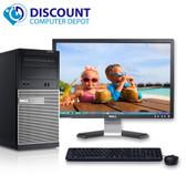 """Dell Optiplex 790 Desktop PC Quad i5 Windows 10 3.1GHz 4GB 320GB 19"""" LCD Wifi"""
