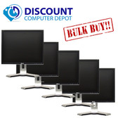 "Lot of 5 Dell Flat Screen LCD's 19"" Grade A"
