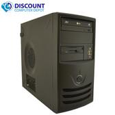 Fast Windows 10 Desktop Computer Tower PC Intel Dual Core CPU 4GB 160GB DVD-Rom