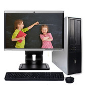 "Fast HP Desktop Computer Windows 10 Core 2 Duo 4GB 250GB DVD-RW 17""LCD"