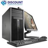 "HP Elite/Pro Desktop Computer Tower i5 3.1GHz 8GB 500GB 19""LCD Windows 10 Pro"