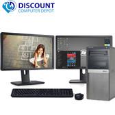 """Dell Optiplex 790 Desktop Computer Windows 10 Pro i3 3.1GHz 8GB 80GB SSD Dual 19"""" LCD'S"""