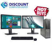 "Dell Optiplex 390 Desktop Computer PC i3 4GB 250GB Dual 2x22"" LCD's Windows 10"