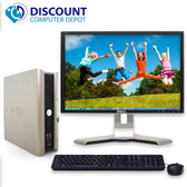"FAST Dell Windows 10 Desktop Computer Core 2 Duo 4GB Ram DVD WiFi 22"" LCD"