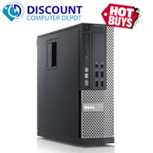 "Dell Optiplex 790 SFF Windows 10 Desktop Computer PC Quad Core i5 3.1GHz 8GB 80GB SSD 19"" LCD Keyboard Mouse and Wifi Adapter"