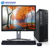 "Lenovo M82 Desktop Computer PC Fast Quad Core i5 4GB 250GB 19"" LCD Windows 10"