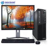 "Lenovo M82 Windows 10 Pro Desktop Computer PC Intel Quad Core i5 3.1GHz 8GB 500GB with a 17"" LCD"