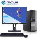 """Dell Optiplex Desktop Computer PC Core i5 8GB 1TB Windows 10 Pro w/19"""" LCD"""