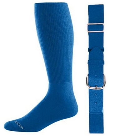 Royal Baseball Socks & Belt Combo (1 Pair of Socks & 1 Belt)