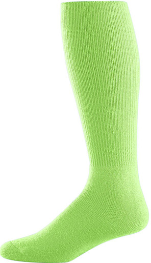 Lime Green Football Game Socks