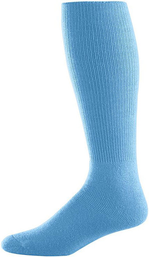 Light Blue Football Game Socks