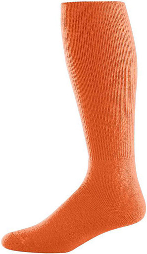 Orange Football Game Socks