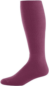 Maroon Baseball Game Socks