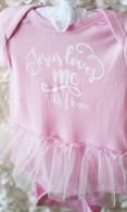 Jesus Loves Me Tutu Onesie | Pink