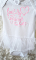 Fearfully & Wonderfully Made Tutu Onesie | White