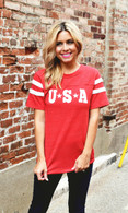 USA Tee | Red FINAL SALE