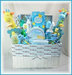 Twin Baby Boys - Gift Basket