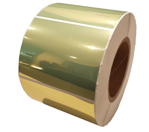 LX8038102 Primera Gloss Gold Polyester Label Stock 38mm x 102mm, 660 labels