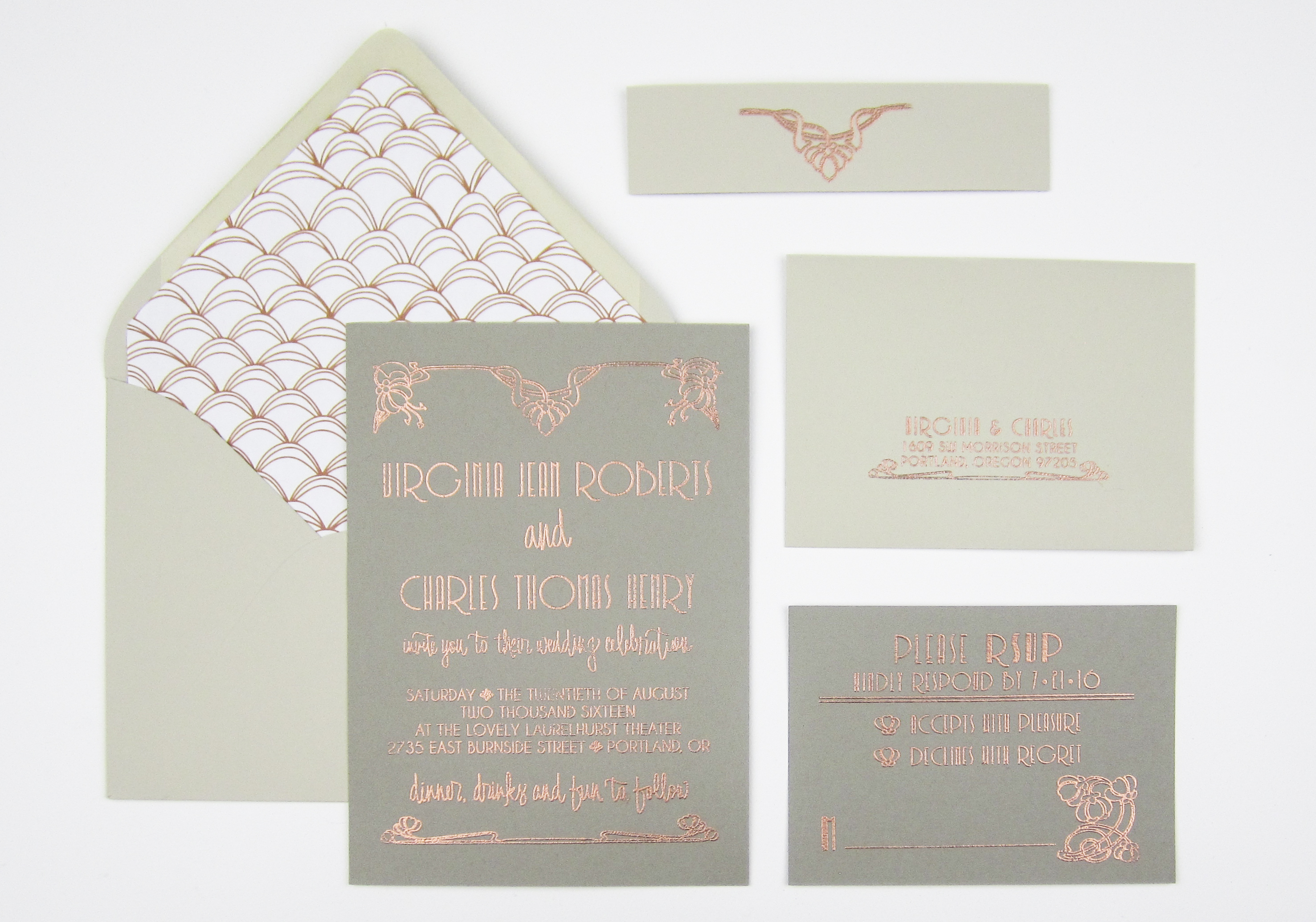 Styling Paper Sushi\'s Art Deco Wedding Suite - PaperSushi