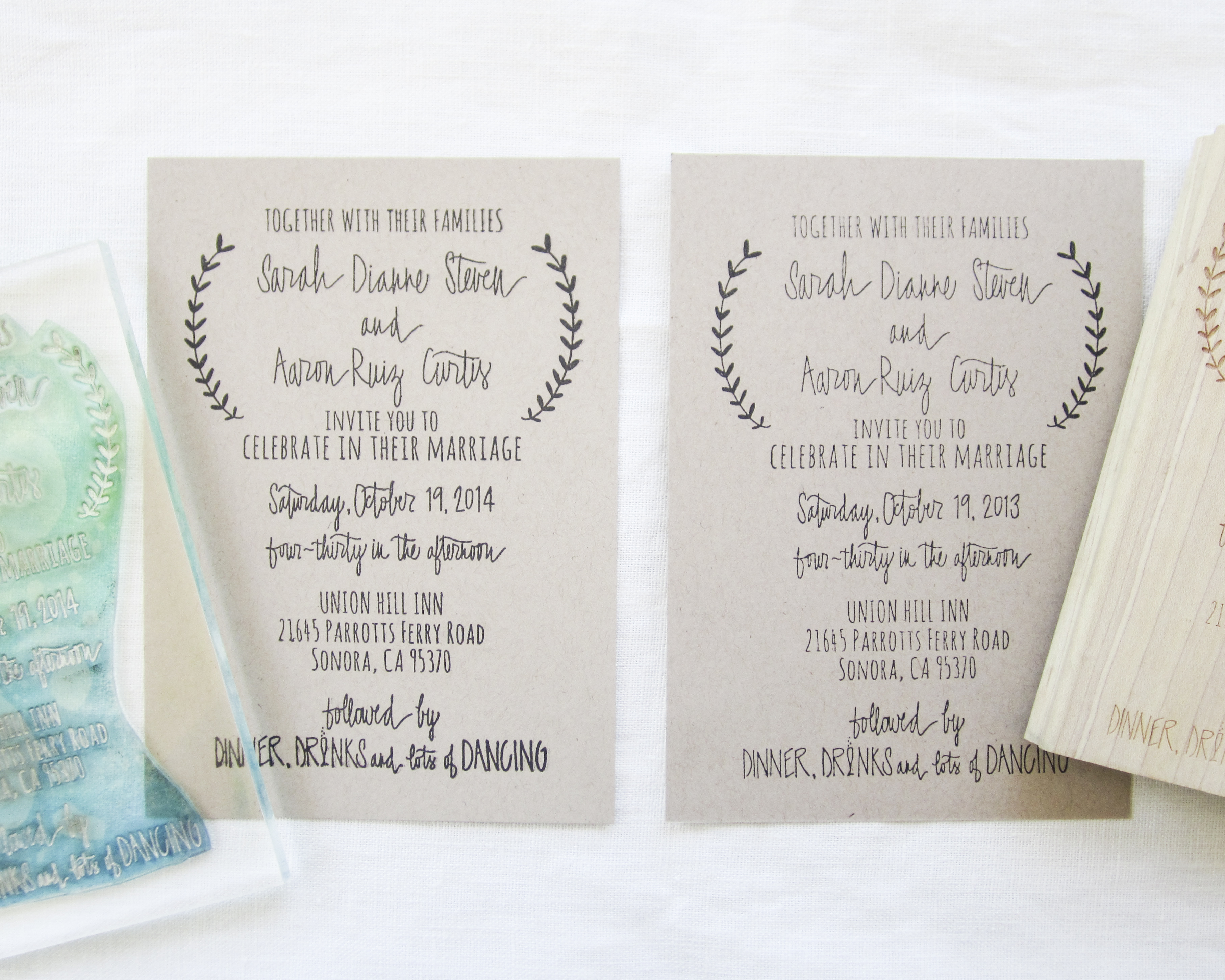 clear stamps vs rubber papersushi - Wedding Invitation Stamp