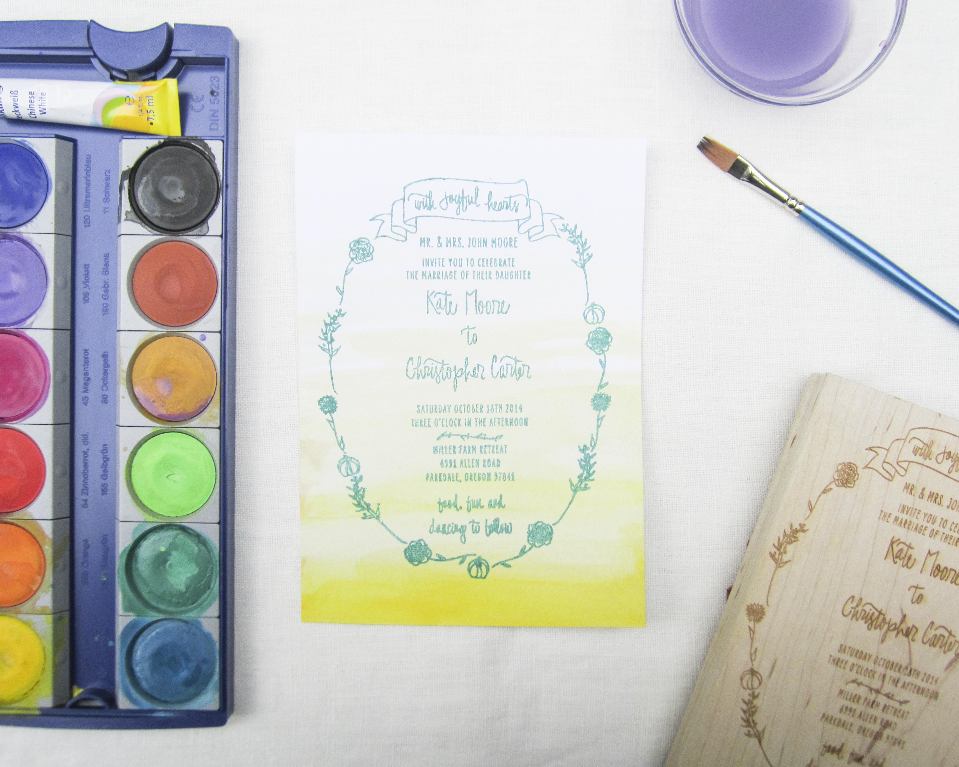 Watercolor + Stamping - PaperSushi