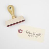 Wedding Calligraphy Stamp - Modern