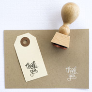 Thank You Stamp - Hand Lettered, Modern