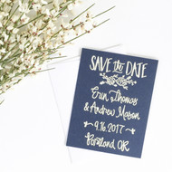 Save the Date Stamp - Succulents