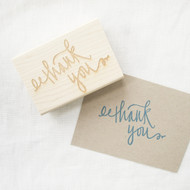 Thank You Stamp - Oversized calligraphy