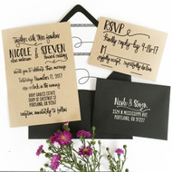 Wedding Invitation Stamp Suite - Scribble