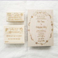 Wedding Invitation Stamp Suite - Fall Florals