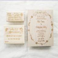 Wedding Invitation Stamp Suite - Fall Florals