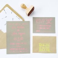 Wedding Invitation Stamp Suite - Arrows