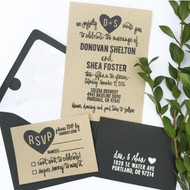 Wedding Invitation Stamp Suite - Carved Heart