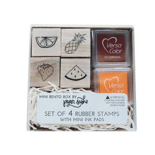 Mini fruit stamp set by Paper Sushi