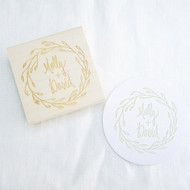 Wedding Favor Stamp - Wreath