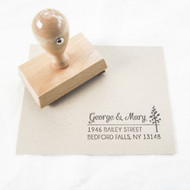 Pine Tree Address Stamp