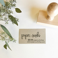 Business Card Stamp - Hand Lettered