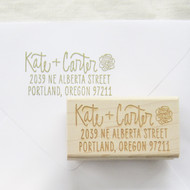 Flower Address Stamp